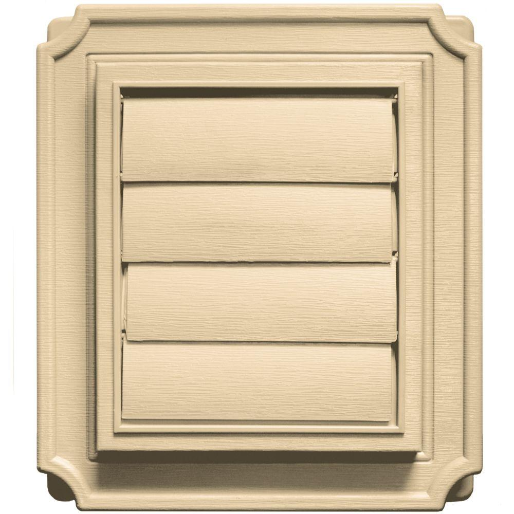 Builders Edge 7.875 in. x 7.875 in. #012 Dark Almond Scalloped Exhaust Siding Vent