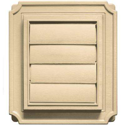 7.875 in. x 7.875 in. #012 Dark Almond Scalloped Exhaust Siding Vent