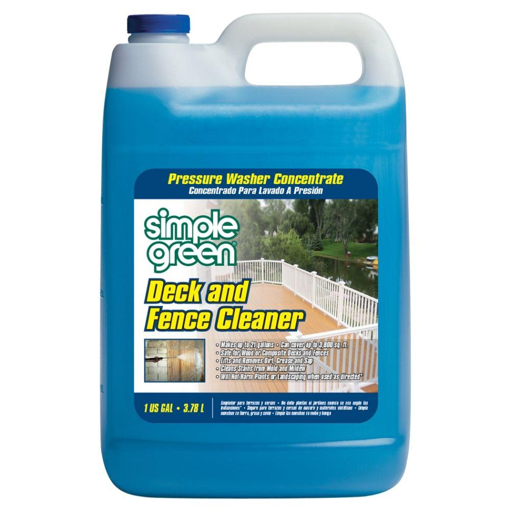 Simple Green 128 oz. Deck and Fence Cleaner Pressure Washer Concentrate
