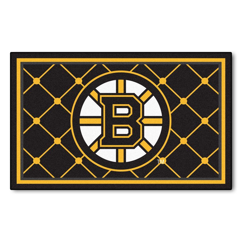Fanmats Boston Bruins 4 Ft X 6 Ft Area Rug 10500 The
