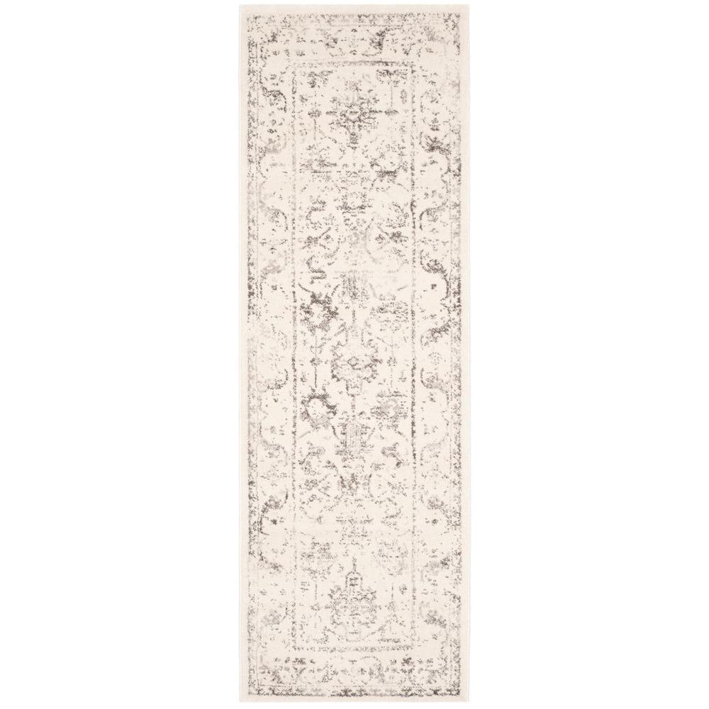 Safavieh Porcello Ivory/Light Grey 2 ft. 4 in. x 6 ft. 7 in. Runner