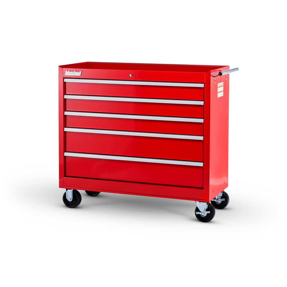International Workshop Series 42 in. 5-Drawer Cabinet, Red