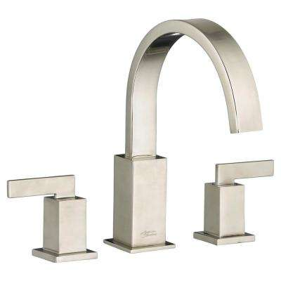 Times Square 2-Handle Deck-Mount Roman Tub Faucet for Flash Rough-in Valves in Brushed Nickel