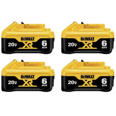 20-Volt MAX XR Premium Lithium-Ion 6.0Ah Battery Pack (4-Pack)