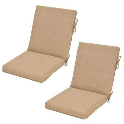 Toffee Ogee Outdoor Dining Chair Cushion (2-Pack)