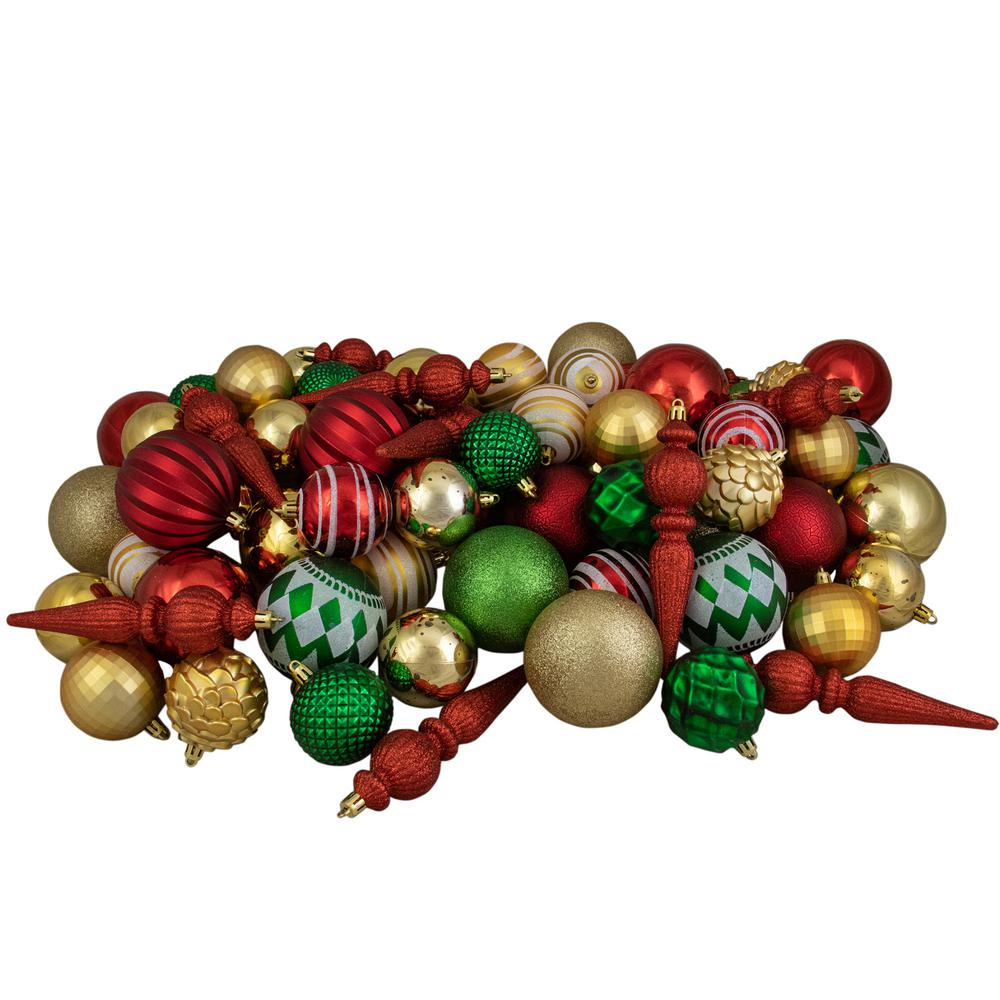 Holiday Time 26 Pack Gold Matte Glitter Ornaments Banners Garlands