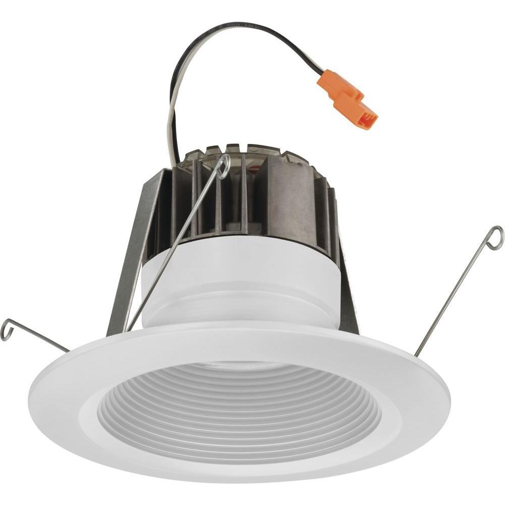 Lithonia Recessed Led Trim: Lithonia Lighting 5 In. Matte White Recessed Baffle LED