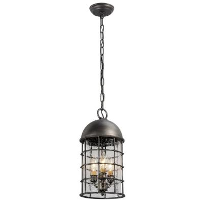 Charlemagne 3-Light Aged Pewter Outdoor Pendant