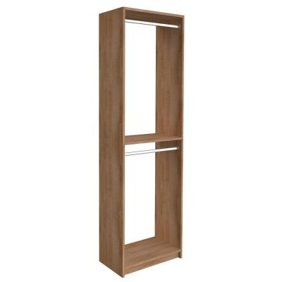 14 in. D x 25.375 in. W x 84 in. H Nutmeg Double Hanging Tower Wood Closet System Kit