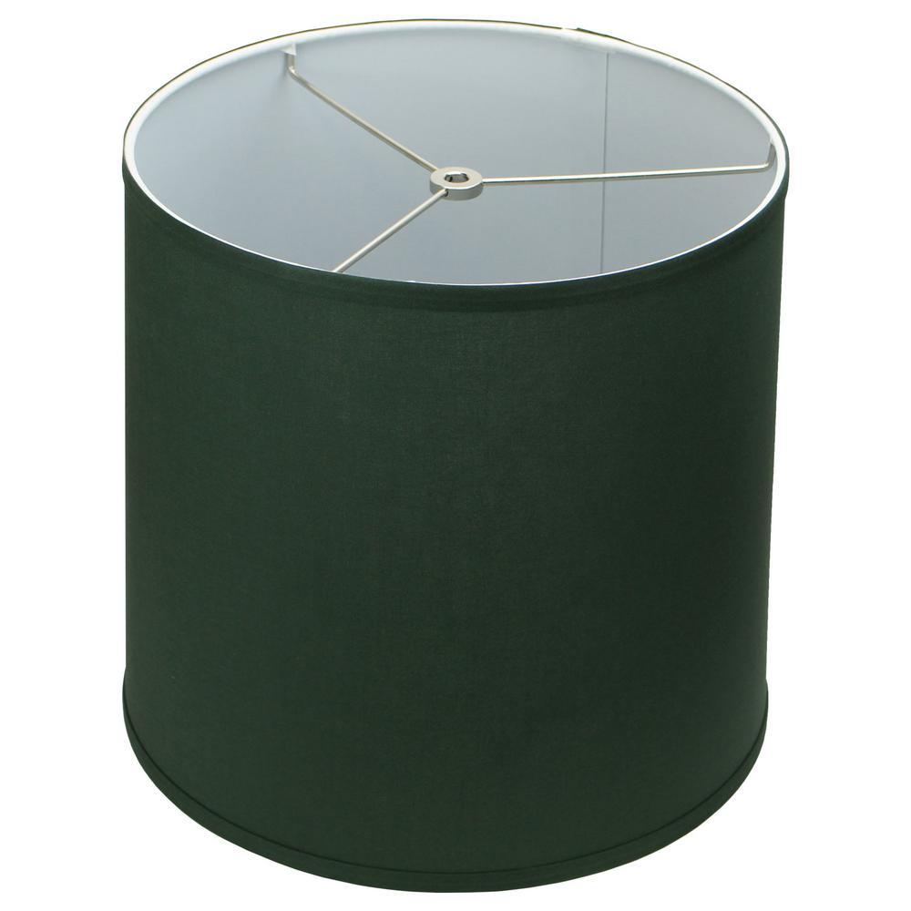 12 in. Top Diameter x 13 in. Bottom Diameter x 12 in. Linen Hunter Green Slant Empire Lamp Shade