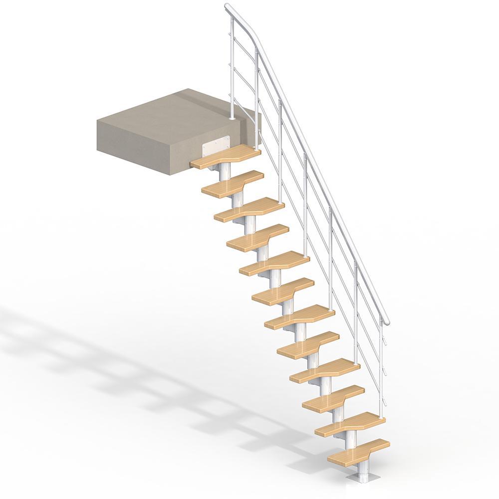 Lugano White 9 ft. Modular Staircase Kit