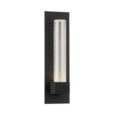 Solato 1-Light Black Outdoor Integrated LED Outdoor Wall Sconce