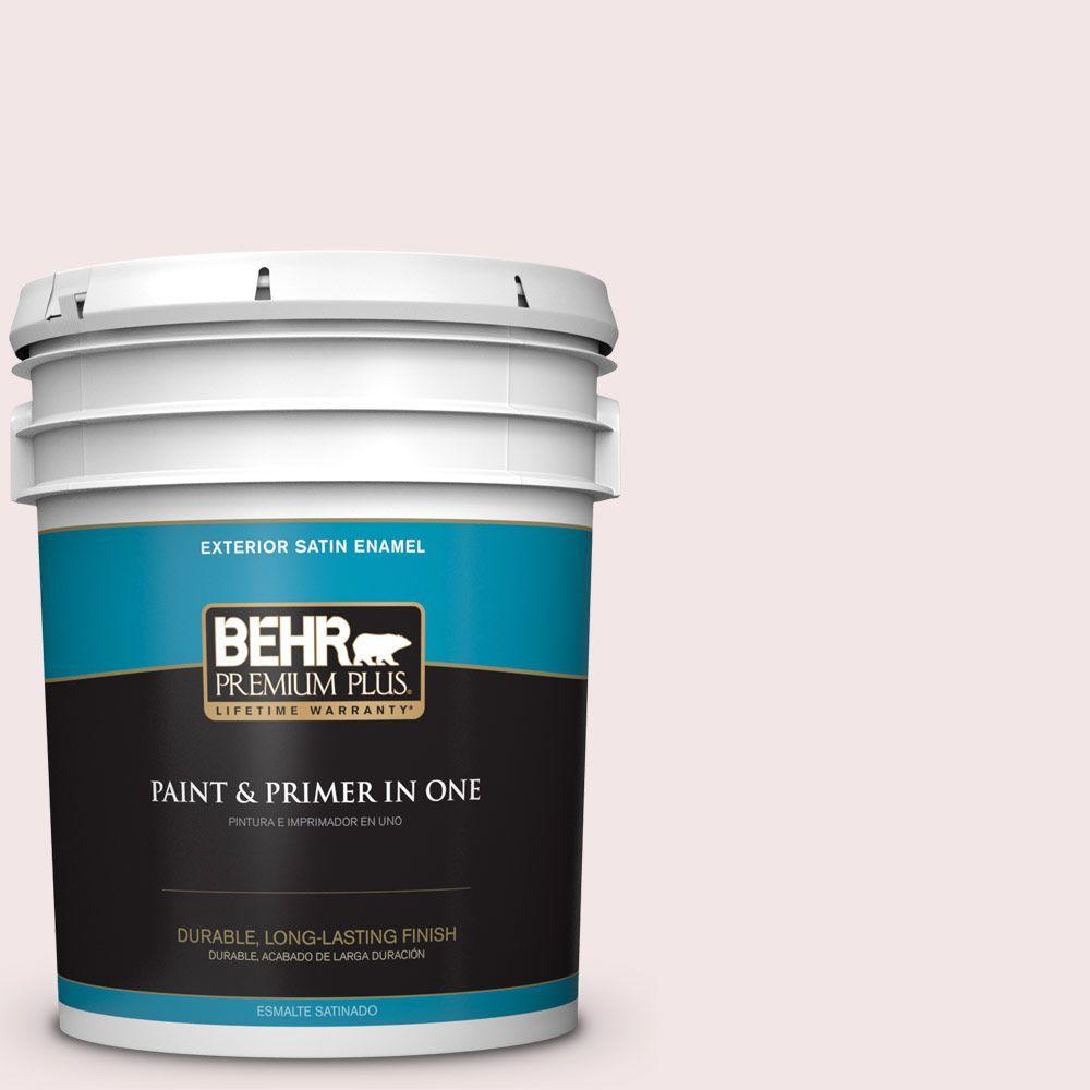 BEHR Premium Plus 5-gal. #RD-W1 Pink Prism Satin Enamel Exterior Paint