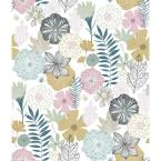 Perennial Blooms Vinyl Peelable Wallpaper (Covers 28.18 sq. ft.)
