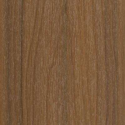 UltraShield Naturale Columbus 1 in. x 6 in. x 1 ft. Peruvian Teak Composite Hybrid Deck Board Sample