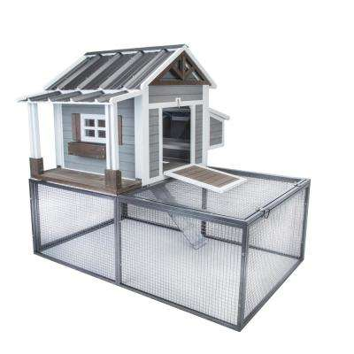 Pacific Northwest Chicken Coop with 20 sq. ft. Metal Pen