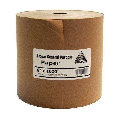 6 in. x 1000 ft. Brown Masking Paper