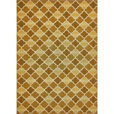 "Outdoor Gold 8' x 11'4"" Indoor/Outdoor Rug"