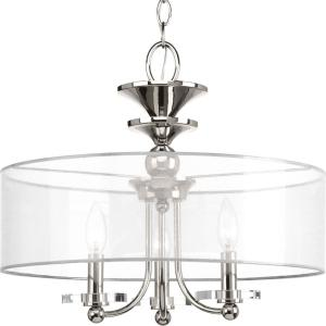March Collection 3-Light Polished Nickel Semi-Flush Mount