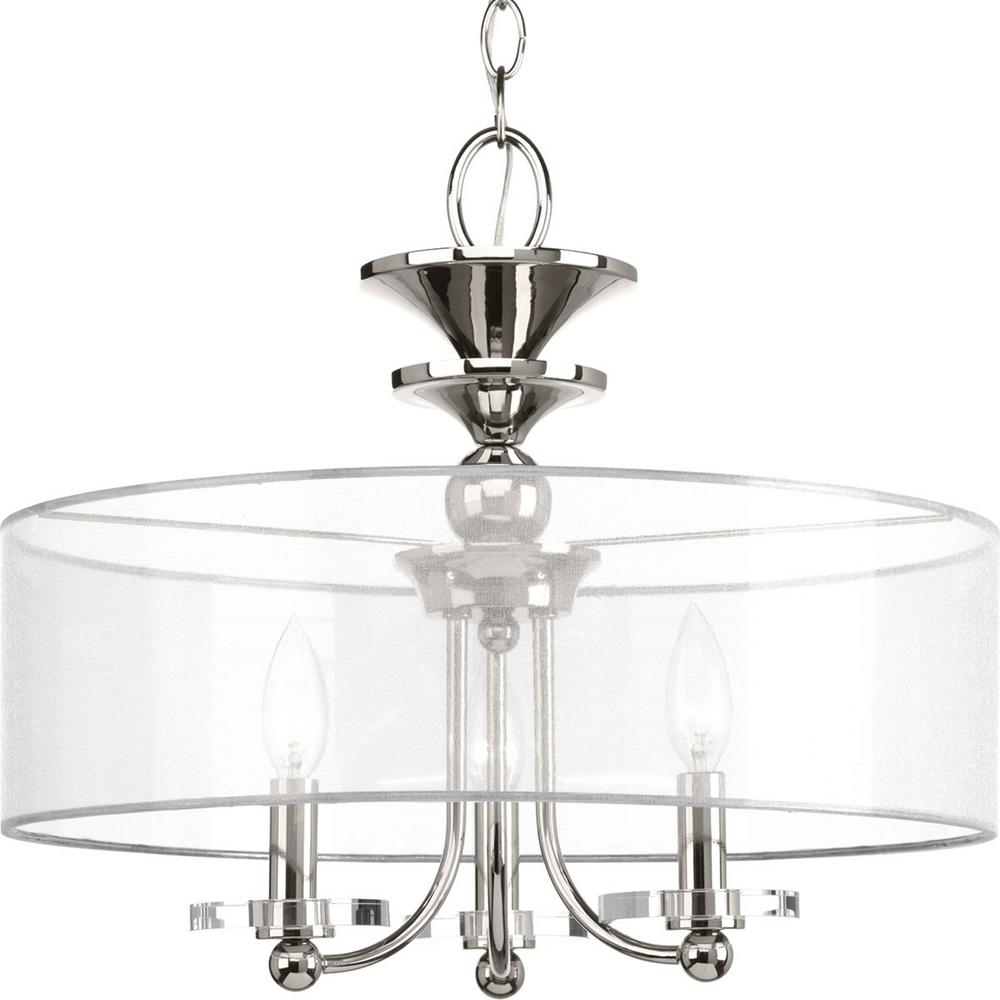 Light Collections: Progress Lighting March Collection 3-Light Polished Nickel