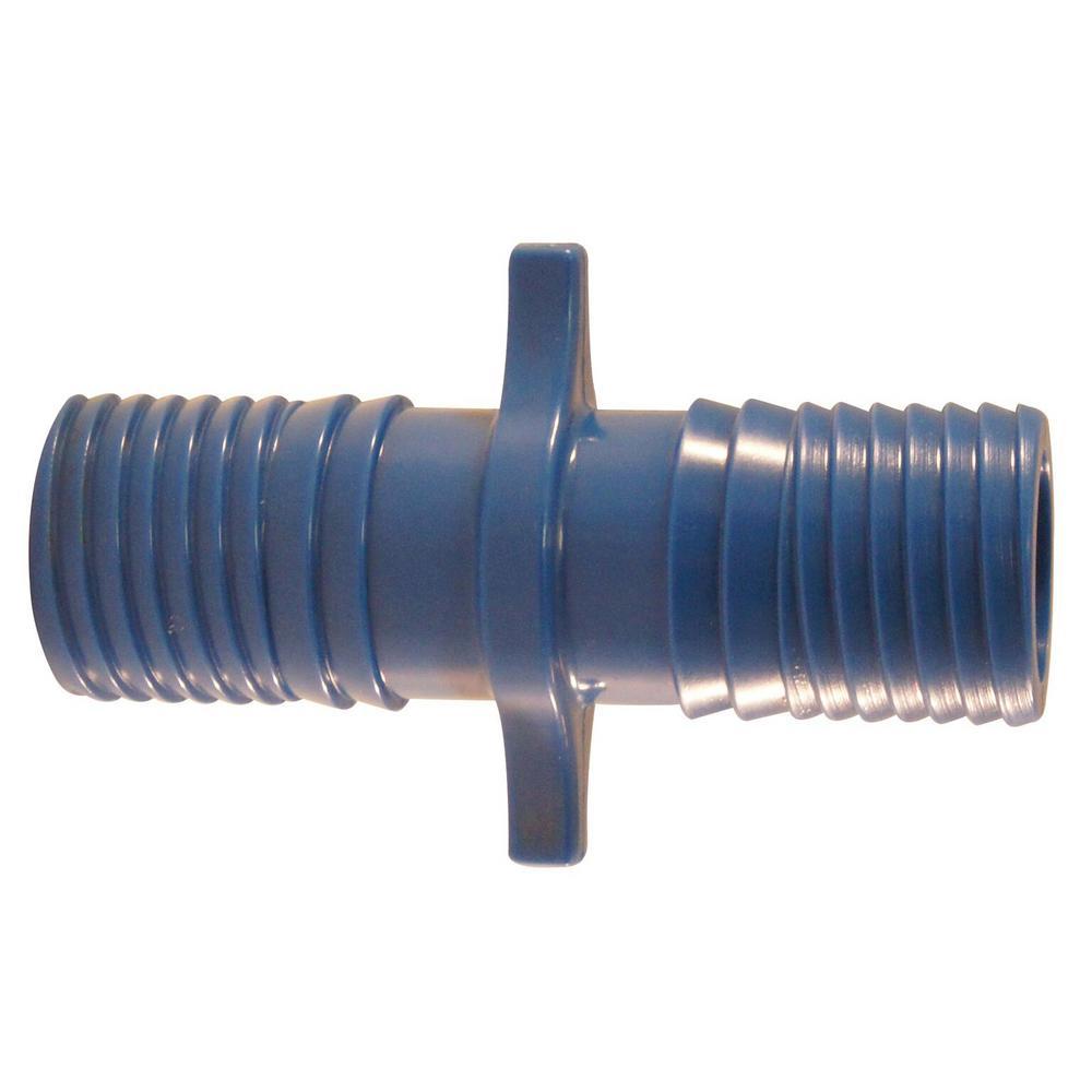 1 in. Blue Twister Polypropylene Insert Coupling