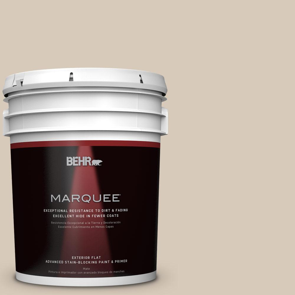 5-gal. #PPU5-12 Almond Wisp Flat Exterior Paint