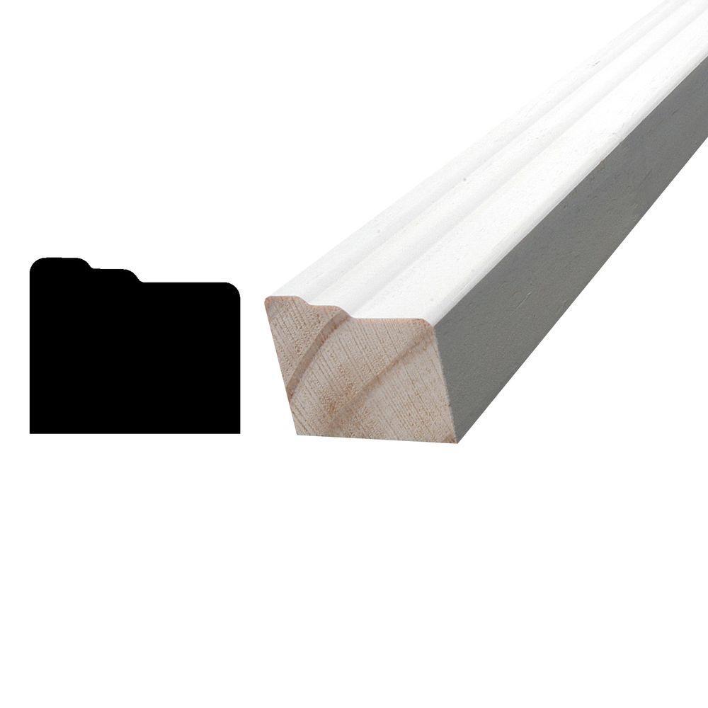 1-1/4 in. x 1-1/2 in. x 84 in. Pine Primed Finger-Jointed Brick Moulding