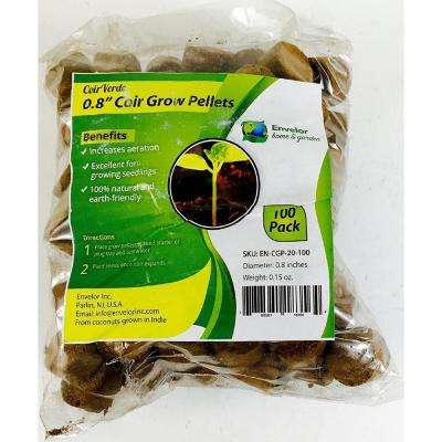 Coir Wafers 0.8 in. Compressed Coco Grow Discs Potting Plants Soil Pellets (180-Pack)