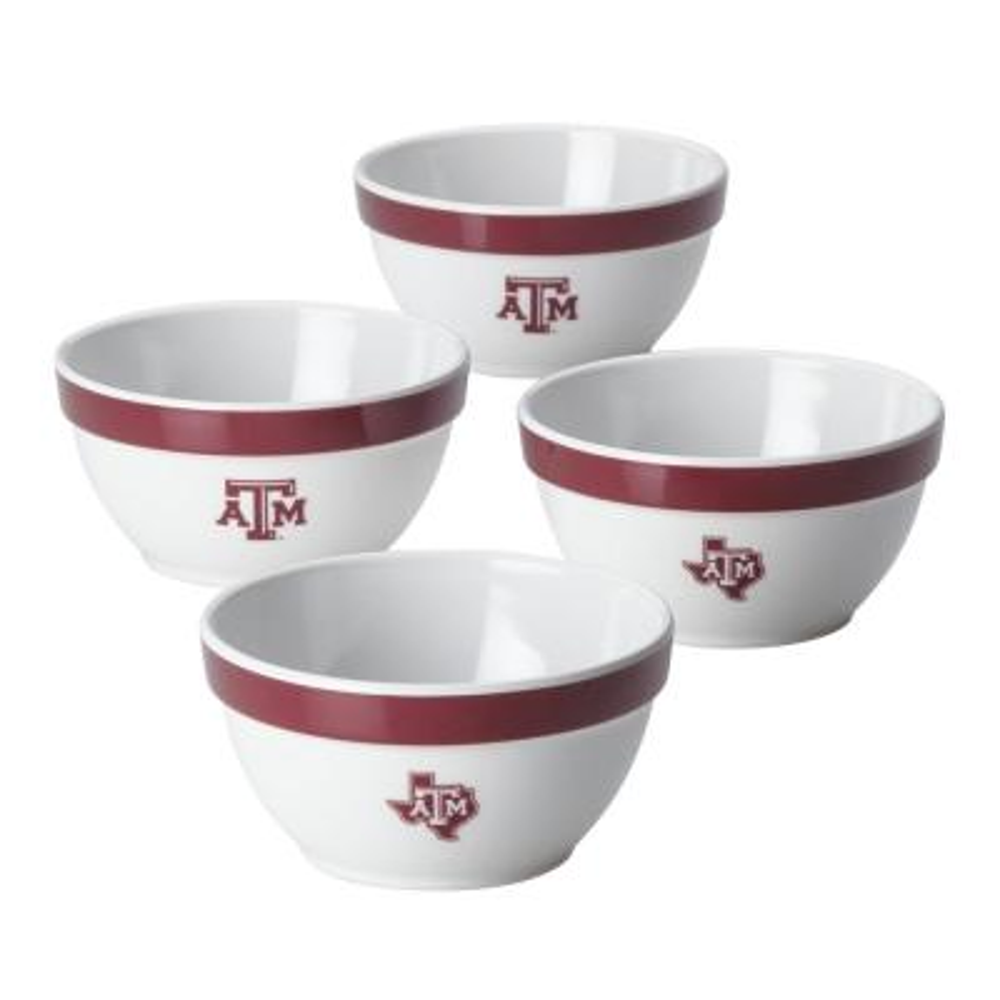 Texas A&M Party Bowls Set, 4-Piece, Maroon