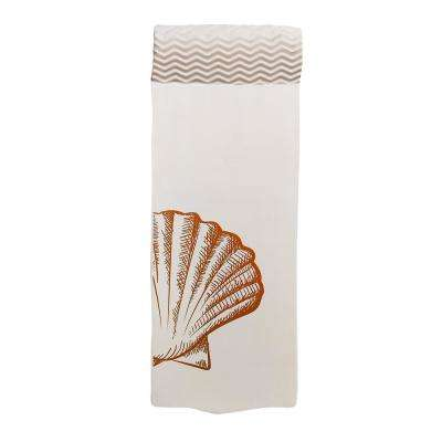White Luxury Mat Lounge for Swimming Pools - NBR Foam Rubber Flotation Device with Clamshell Print