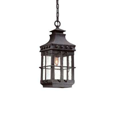 Dover 1-Light Natural Bronze Outdoor Hanging Light