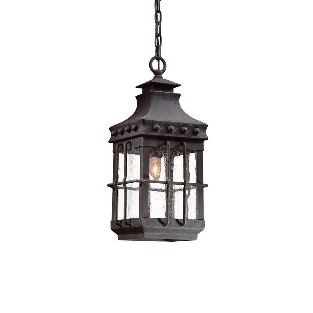 Troy Lighting Dover 1-Light Natural Bronze Outdoor Hanging Light