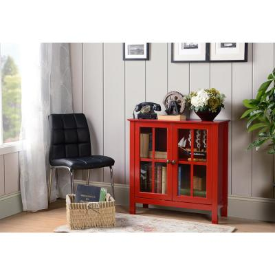 Red Office Storage Cabinets Home Office Furniture The Home Depot