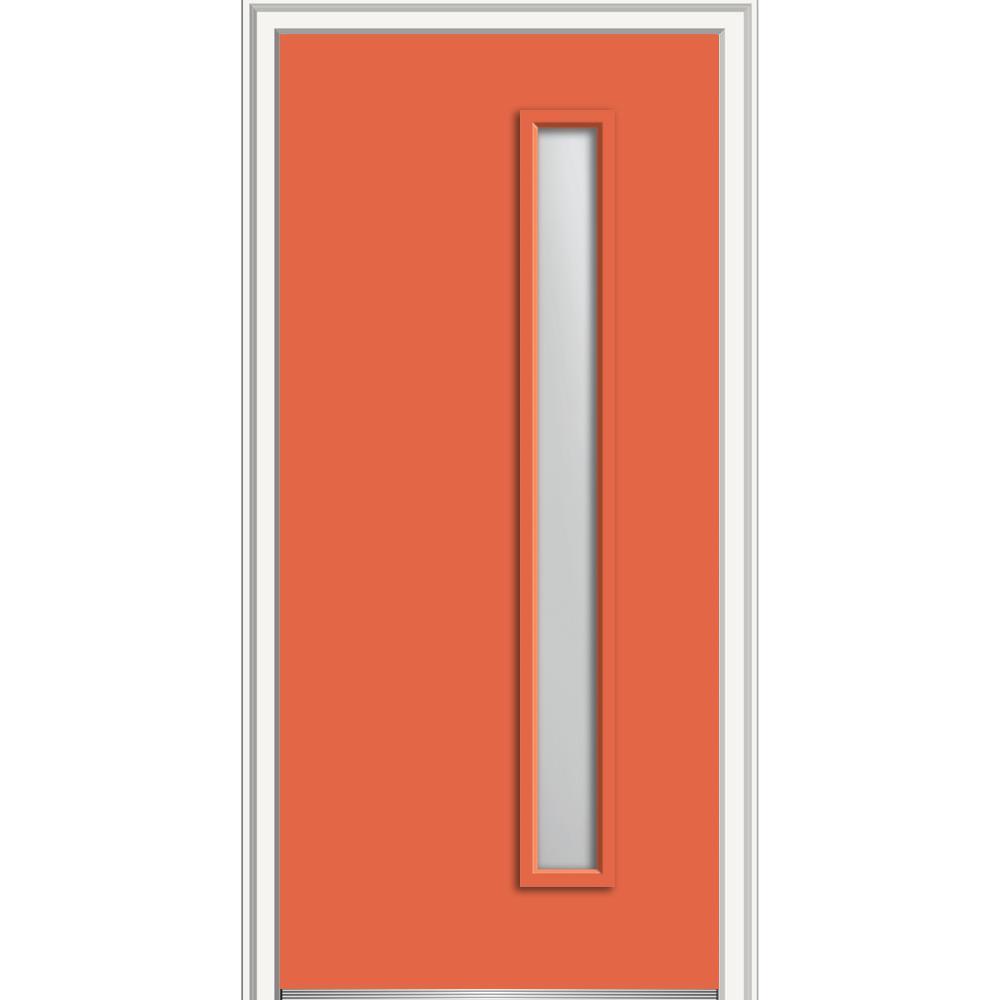 Mmi door 30 in x 80 in viola frosted glass left hand 1 for 16x80 door