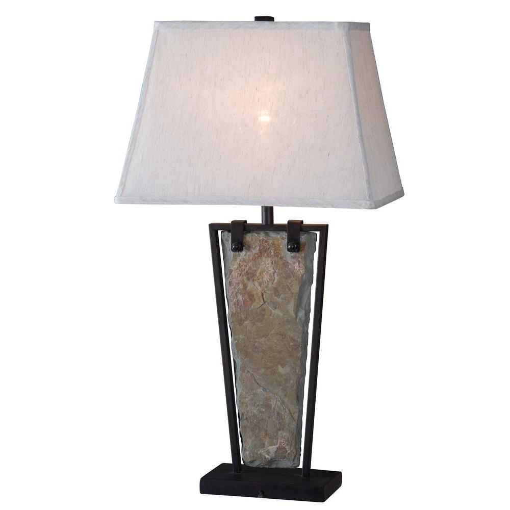 Kenroy home free fall 30 in green slate table lamp - Kenay home lamparas ...