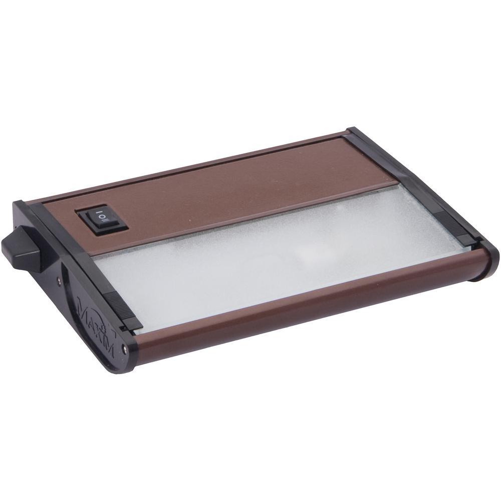 Maxim Lighting CounterMax MX-X12 7 in. 1-Light 12-Volt Xenon Starter Kit Under Cabinet Light, Bronze