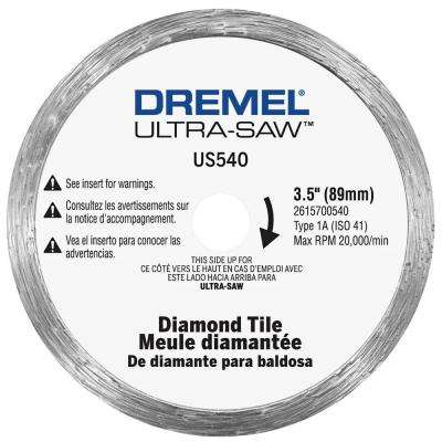 Ultra-Saw 4 in. Diamond Tile Cutting Wheel for Floor Tile, Wall Tile, Porcelain, Ceramic, Slate, Stone, and Cement Board