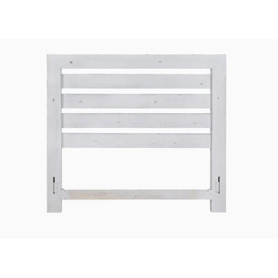 Willow Distressed White King Slat Headboard