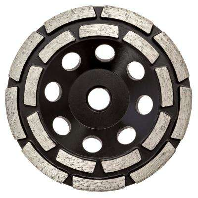 4.5 in. Double Row Diamond Grinding Cup Wheel