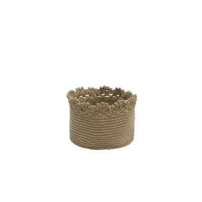 Mod Crochet Round Polypropylene Basket (Set of 2)