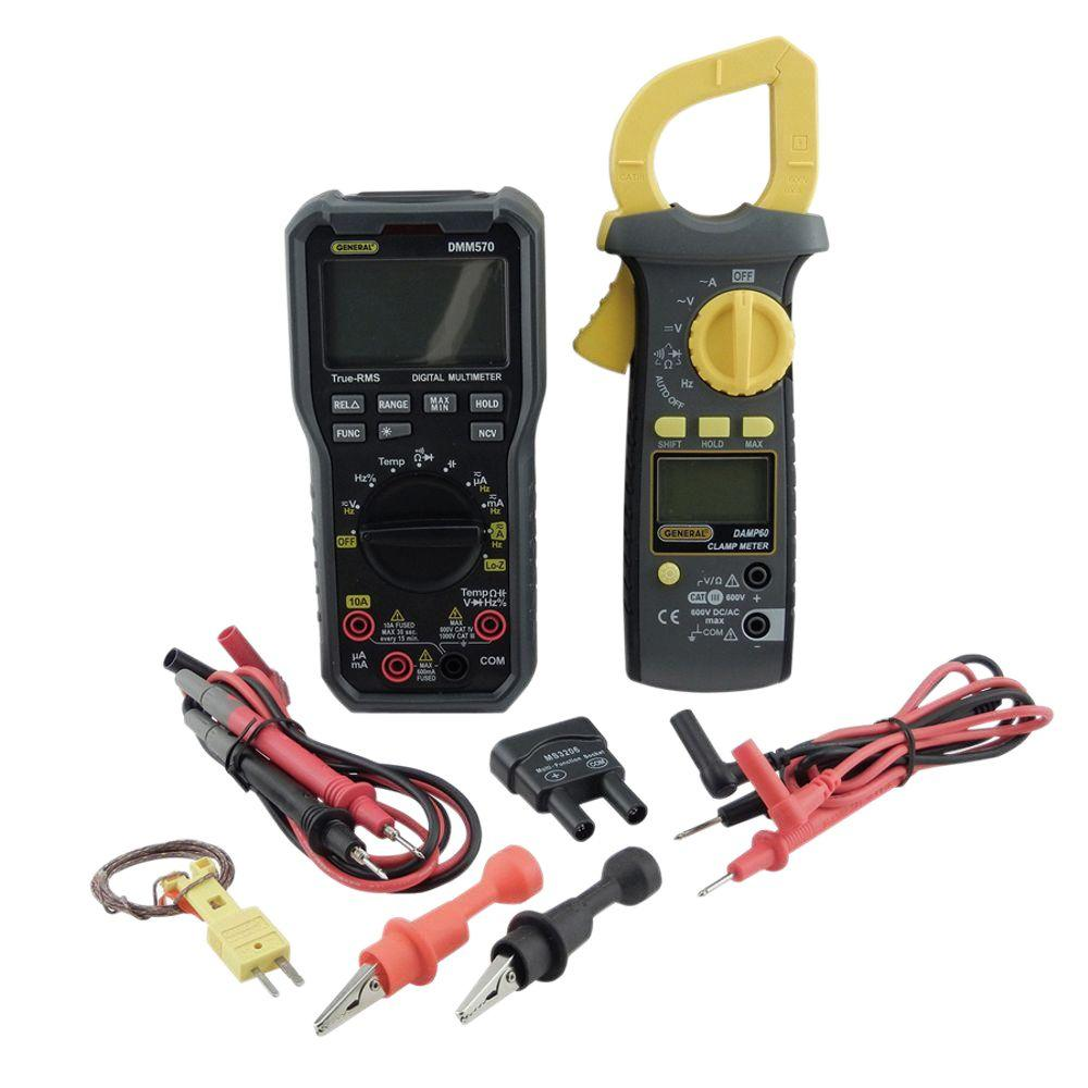 General Tools Electricians Kit with Trms Multimeter and A...