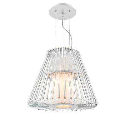 Delhi 7-Light Chrome Chandelier with Clear Glass Shades