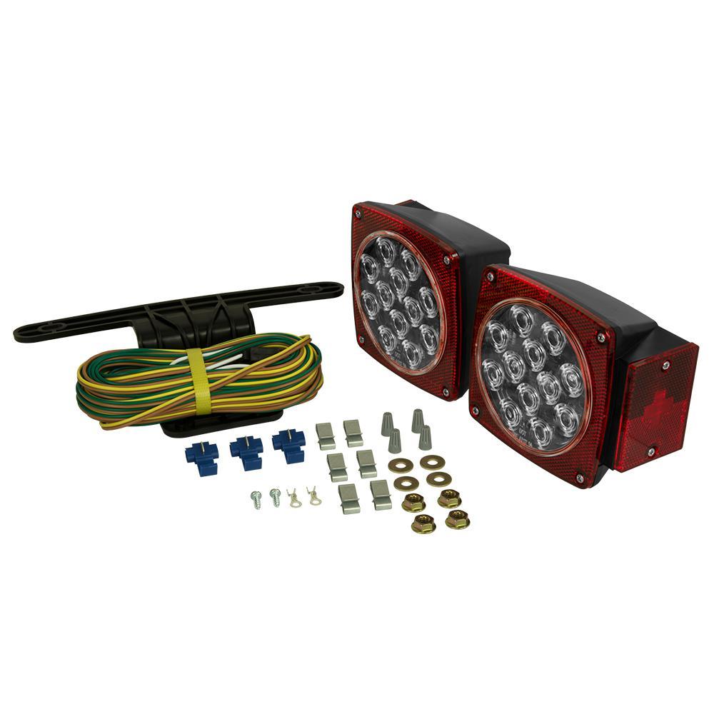 LED Clear Lens Submersible Trailer Light Kit