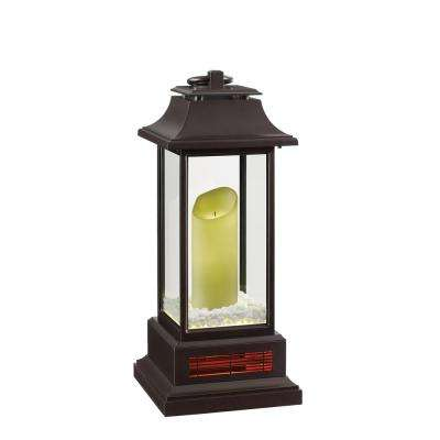 1500-Watt 28 in. Infrared Electric Portable Heater Lantern with Remote Control and LED Flameless Candle