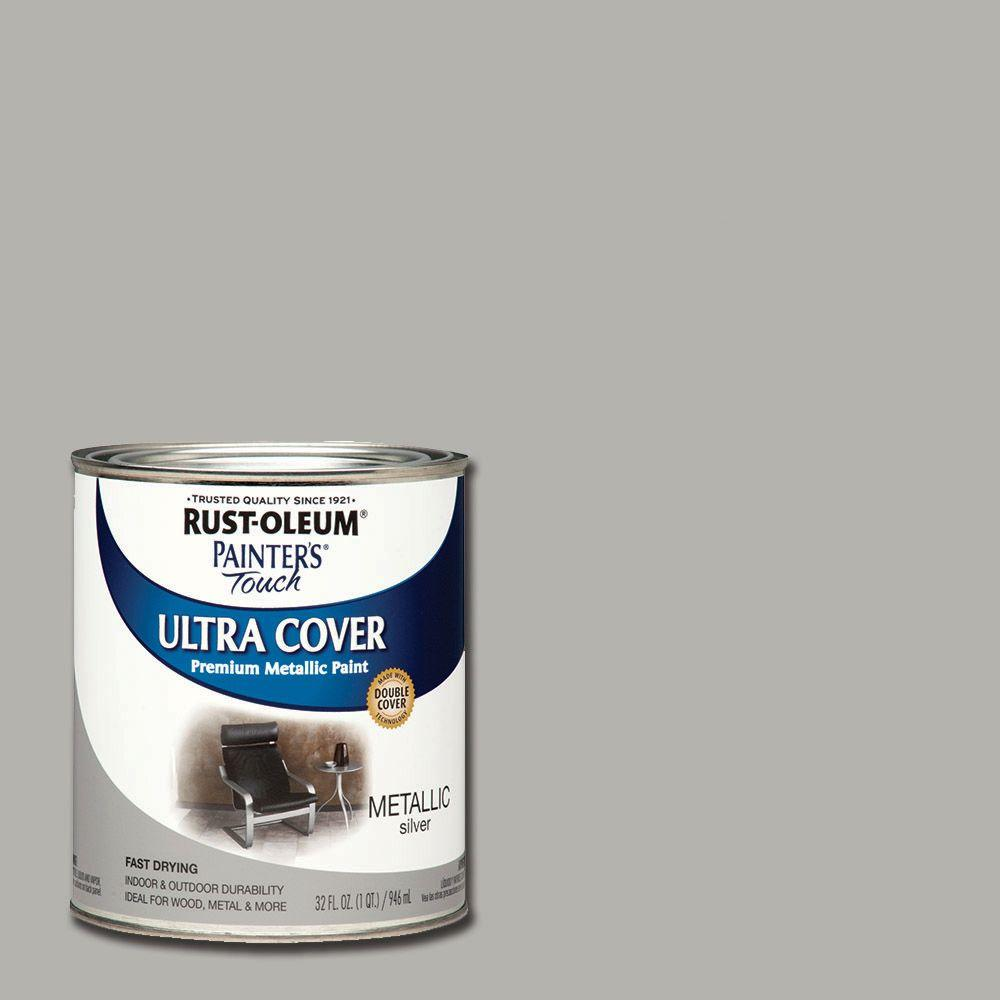 Rust-Oleum Painter's Touch 32 oz. Ultra Cover Metallic Silver General Purpose Paint ...