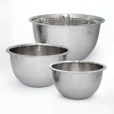5 Qt. Professional Stainless Steel Hammered Mixing Bowl
