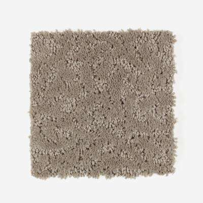 Carpet Sample - Perry - Color True Taupe Pattern 8 in. x 8 in.
