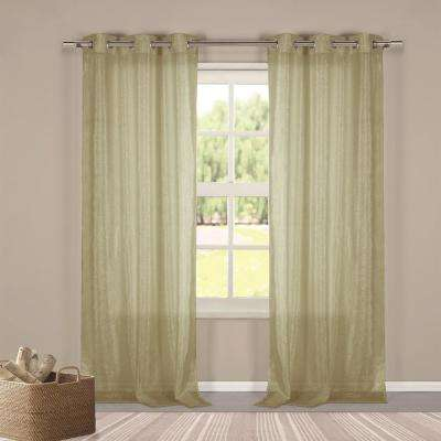 Metallico 40 in. W x 84 in. L Polyester Window Panel in Taupe