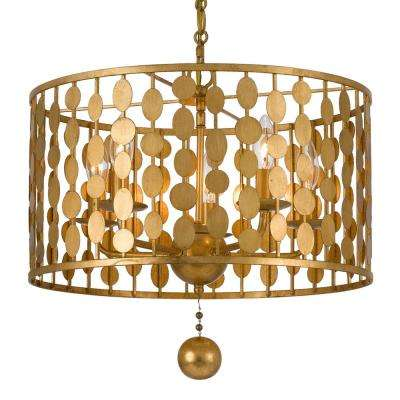 Layla 5-Light Antique Gold Chandelier