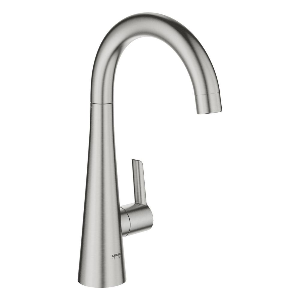 GROHE Ladylux L2 Pillar Tap Single-Handle Standard Kitchen Faucet with  Filter Function in SuperSteel Infinity Finish